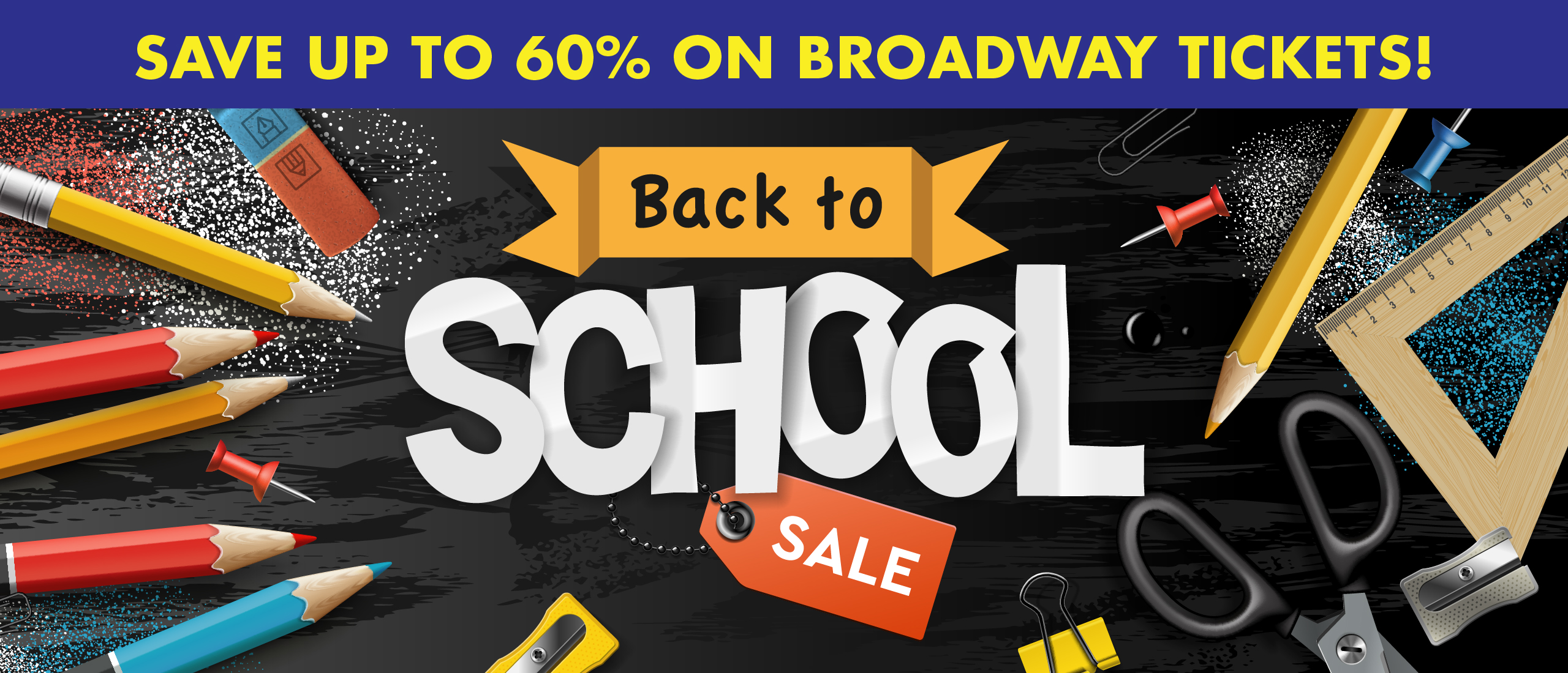 Back To School save 60 percent