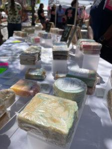Artisan soap at Saturday Market