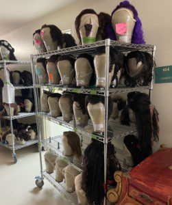 More wigs on shelves